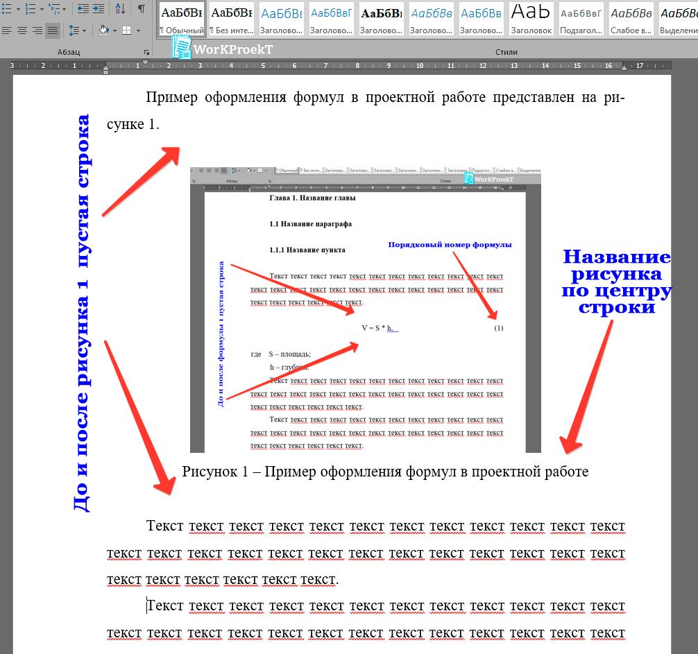 Пример оформления рисунков в проектной работе