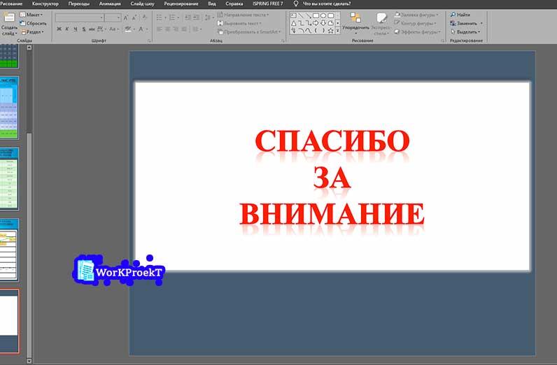 Последний слайд в презентации, как правильно оформить